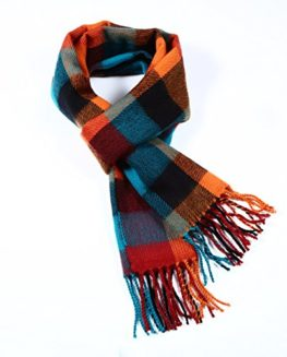 AWAVE-A-WAVE-Softer-than-Cashmere-Wool-Touch-Tassel-Ends-Plaid-Check-Solid-Scarf-0