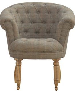 Artisan-Furniture-Deep-Buttoned-Tub-Armchair-in-Tweed-Wood-Natural-Oak-Finish-0