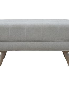 Artisan-Furniture-Scandinavian-Designed-Footstool-in-Grey-Tweed-Wood-Natural-Oak-Finish-0