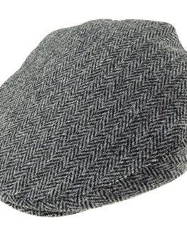 Authentic-Harris-Tweed-County-Cap-Grey-Herringbone-0