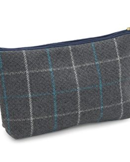 Blue-Badge-Company-Luxury-Check-Mens-Toiletries-Case-Wash-Bag-with-Waterproof-Lining-Blue-Grey-0