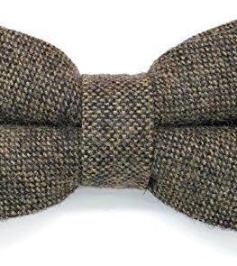 Country-Style-Warm-Handle-Brown-Tweed-Bow-Tie-0