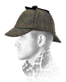 Failsworth-Harris-Tweed-Sherlock-Deer-Stalker-Hat-Green-Pattern-2013-0