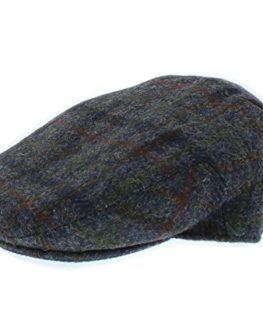 Failsworth-Harris-Tweed-Stornoway-Flat-Cap-Grey-Check-Pattern-6010-0