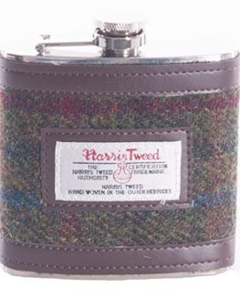 Flask-Harris-Tweed-GreenRed-0