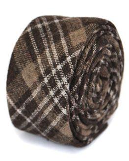Frederick-Thomas-100-Wool-Tweed-Ties-Brown-and-white-0