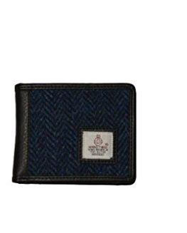 Gents-Blue-Trifold-Harris-Tweed-Wallet-0
