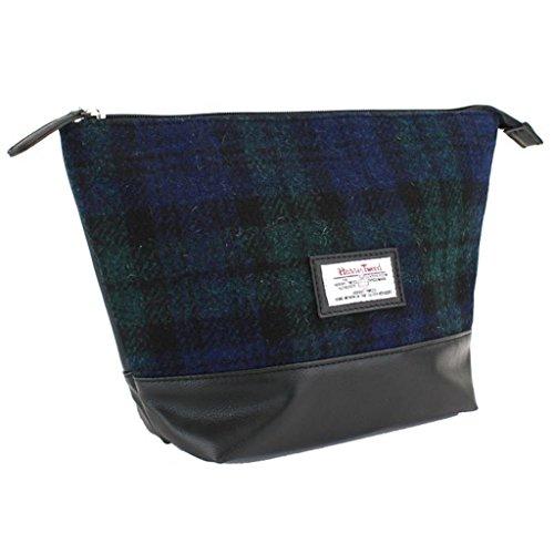 Harris Tweed Black Watch Tartan Wash Bag That British