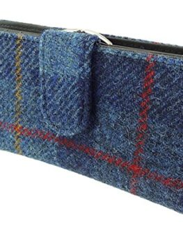 Harris-Tweed-Ladies-Long-Wallet-Purse-Pink-Check-LB2001-COL47-0