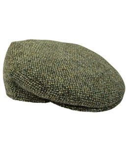 Harris-Tweed-Mens-100-Flat-Cap-4-Colours-Available-New-0