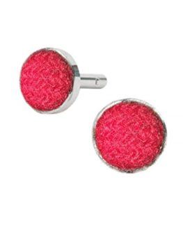 Harris-Tweed-Mens-Red-Tweed-Cufflinks-0