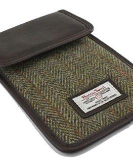 Harris-Tweed-Mini-Tablet-Case-Green-Hunter-Check-0