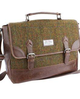 Harris-Tweed-Olive-Tan-Tartan-Briefcase-0