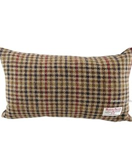 Harris-Tweed-Rectangular-Cushion-Brown-Dogtooth-LB4001-0