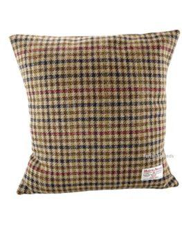 Harris-Tweed-Square-Cushion-Brown-Dogtooth-LB4002-0
