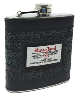 Harris-Tweed-Stainless-Steel-Hip-Flask-in-Choice-of-Colours-and-Boxed-0