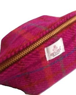 Harris-Tweed-ladies-Big-Mouth-pouch-Pink-Heather-hand-made-in-Scotland-FREE-UK-DELIVERY-0