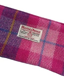 Harris-Tweed-purse-cosmetic-make-up-bag-in-Bubble-Gum-Plaid-0