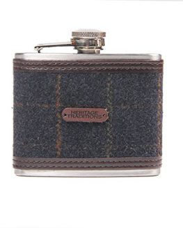 Heritage-Traditions-4oz-Blue-Box-Tweed-Hip-Flask-0