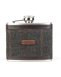Heritage-Traditions-4oz-Green-Box-Tweed-Hip-Flask-0