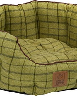 House-of-Paws-Green-Tweed-Oval-Dog-Bed-0