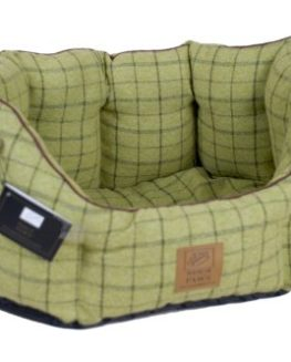 House-of-Paws-Tweed-Oval-Snuggle-XXL-Green-0