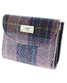 Ladies-Harris-Tweed-Short-Wallet-Purse-Available-In-10-Colours-LB2002-0