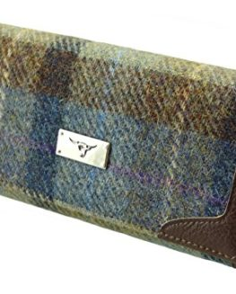 Ladies-Long-Wallet-Purse-100-Harris-Tweed-LB2000-COL28-0