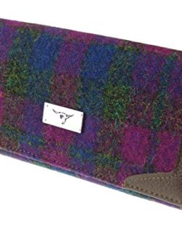Ladies-Long-Wallet-Purse-100-Harris-Tweed-LB2000-COL54-0