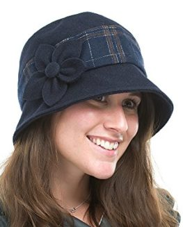Ladies-Navy-Melton-Wool-Cloche-Style-Casual-Hat-Sonia-0