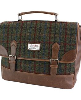 Ladies-or-Gents-Genuine-Harris-Tweed-Satchel-Briefcase-in-Choice-of-Colour-0