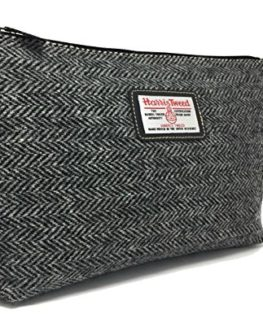 Ladies-or-Gents-Traditional-Harris-Tweed-Wool-Lined-Toiletries-Washbag-Choice-of-Colours-0