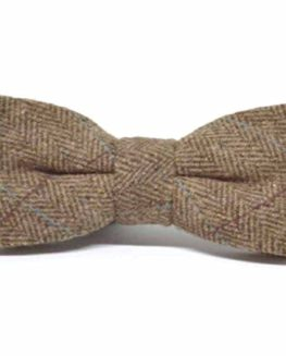 Luxury-Herringbone-Brown-Tweed-Bow-Tie-0