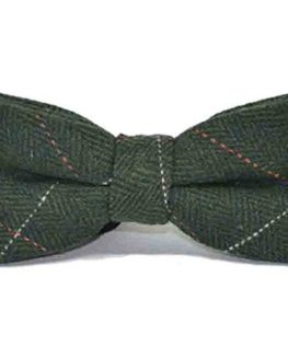 Luxury-Herringbone-Forest-Green-Tweed-Bow-Tie-Bowtie-0