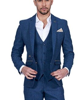 Marc-Darcy-Mens-3-Piece-Slim-Fit-Blue-Tweed-Inspired-Herringbone-Check-Casual-Business-Wedding-Suit-Formal-Blazer-Waistcoat-and-Trousers-34-52-Available-0