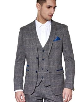 Marc-Darcy-Mens-3-Piece-Slim-Fit-Grey-Check-Tweed-Inspired-Casual-Business-Wedding-Suit-Formal-Blazer-Waistcoat-and-Trousers-34-52-Available-0