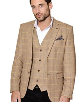 Marc-Darcy-Mens-Designer-2-Piece-Herringbone-Tweed-Blazer-Jacket-0