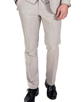 Marc-Darcy-Mens-Designer-Cream-Tweed-Tailored-Trouser-Work-Wedding-Size-28-46-Available-0