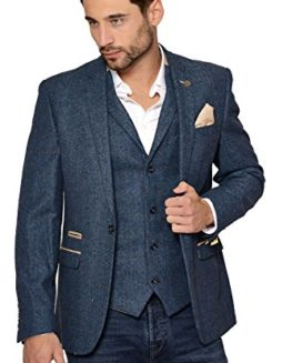 Marc-Darcy-Mens-Designer-Slim-Fit-Casual-One-Button-Single-Breasted-Blue-Herringbone-Tweed-Inspired-Blazer-Business-Jacket-Chest-Sizes-34-52-0