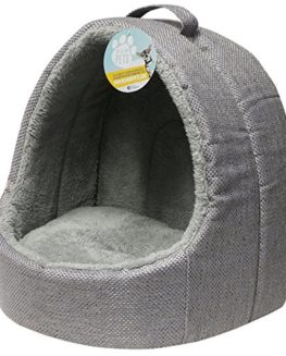 Me-My-Pets-Soft-Grey-Fleece-Cat-Igloo-Bed-0