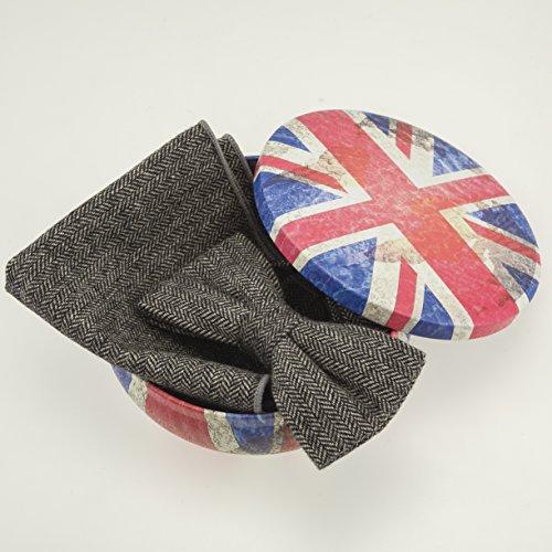 Men's 2-piece Luxury Wool Bow Tie & Pocket Square ...
