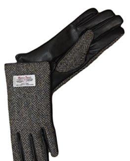 Mens-Brown-Herringbone-Harris-Tweed-Gloves-0