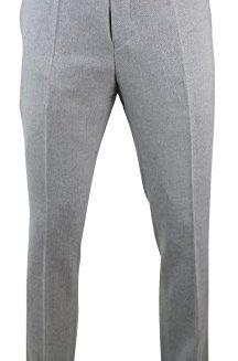 Mens-Light-Grey-Herringbone-Tweed-Slim-Fit-Trouser-With-Black-Velvet-Trim-0