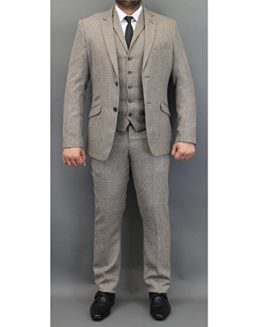 Mens-Tweed-Checked-Blazers-Waistcoats-Trouser-3-Piece-Suits-By-Cavani-0