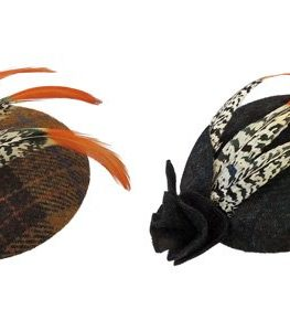 New-1940s-Retro-WW2-Wartime-British-Harris-Tweed-Feather-Pill-Box-Hat-0