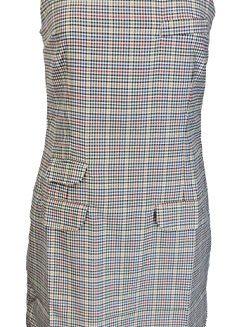 Relco-Ladies-Retro-Mod-Biege-Tweed-PinaforeTunic-Dress-0