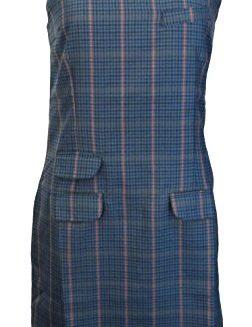 Relco-Ladies-Retro-Mod-Blue-Tweed-PinaforeTunic-Dress-0