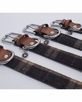 Rosewood-Luxury-Leather-Dog-Collar-tartan-tweed-check-0