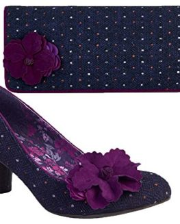 Ruby-Shoo-Samira-Mid-Heel-Court-Shoe-Pumps-Budapest-Bag-3-9-Purple-Black-Blue-0
