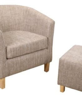 Shankar-Oatmeal-Tub-Chair-Set-with-Footstool-Tweed-0